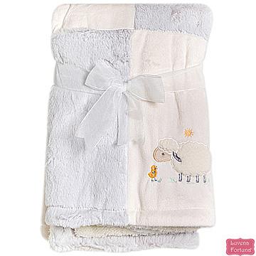 LILY & JACK ผ้าห่มขนแกะสีเทาเนื้อนิ่มสีเทาแบบอังกฤษ