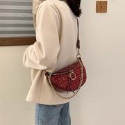 [Abigail] กระเป๋าปักปักเฉียงกระเป๋าหน้าอกเฉียง 6118 (สีม่วง)