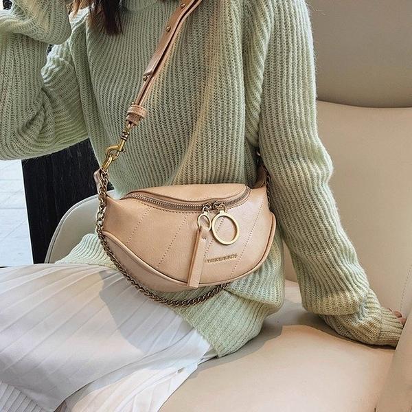 【 Abigail 】กระเป๋าหนังวัวน้ำมันขี้ผึ้งถุงอาหารค่ำ 6111 (สีเบจ)