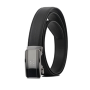 (braun buffel)[VOVA] Pan Taiwan Distributor Fashion Gentleman Key Mirror Shape Automatic Buckle Belt-Silver/VA008-005-NK