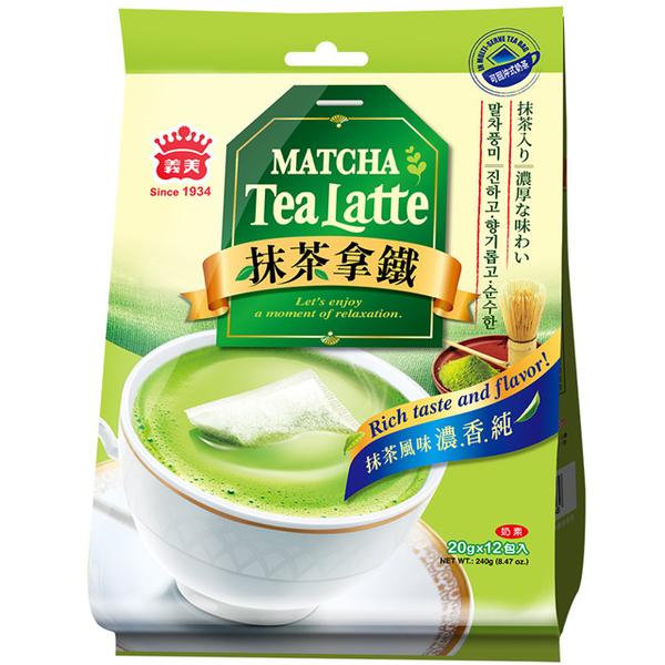 【Yimei】ชาเขียวมัทฉะลาเต้ ( 20 กรัม x 12 ซอง / ถุง )