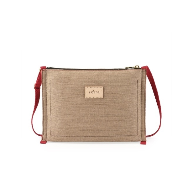 satana-ECO Love Classic Close Crossbody Bag-Khaki