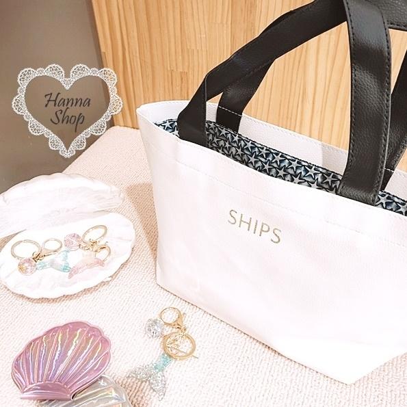 Huahua Club-Outflow. SHIPS กระเป๋าหนังสีตัดกันสีขาวสด【 H6647 】