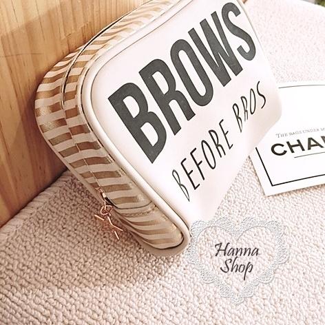 Huahua Club-Limited. Victoria's Secret Powder BROWS Bronzing Stripe Cosmetic Bag 【 H6653 】