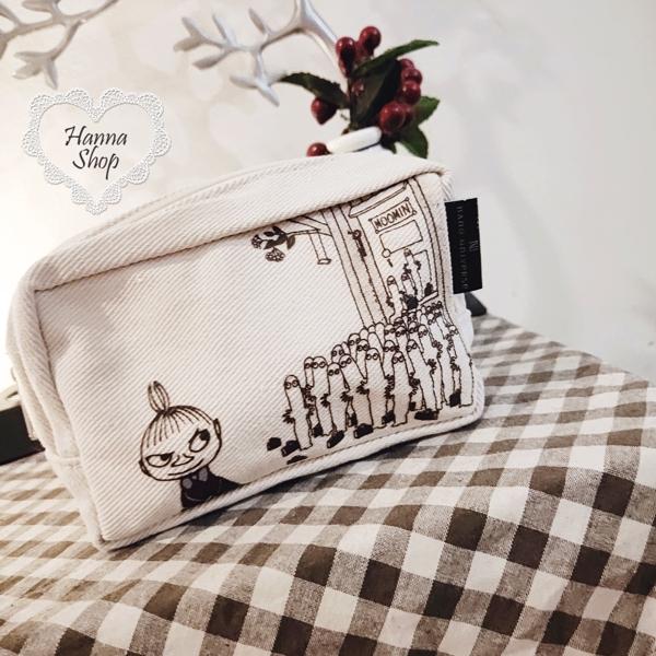 Huahua Club-Outflow. กระเป๋าเครื่องสำอางสีกาแฟน่ารักย้อนยุคเล็ก ๆ น้อย ๆ [H6685]