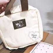Huahua Club-Outflow. เบ็ดเตล็ดญี่ปุ่นทานุกิครอบครัวป่าน่ารักกาแฟสีเหลืองชุดอบอุ่นกระเป๋าแต่งหน้าขนาดเล็ก [H6669]