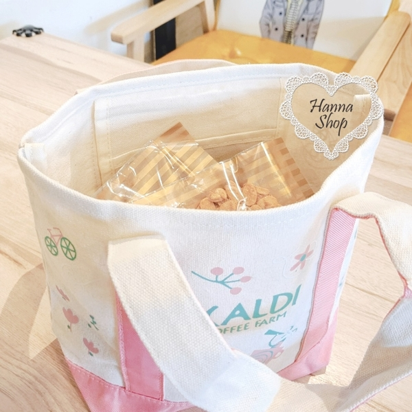 Huahua Club-Outflow. KALDI Pink Fawn Forest Tour Lunch Tote 【 H6700 】
