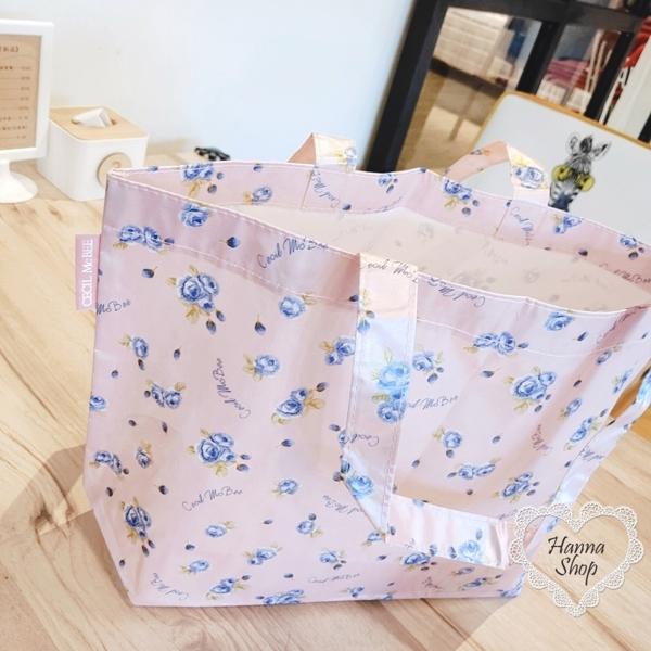 Huahua Club-Outflow. ญี่ปุ่นดอกเดียวสีชมพูมุกจับดอกไม้กระเป๋าหิ้วไนลอนขนาดใหญ่【 H6705 】