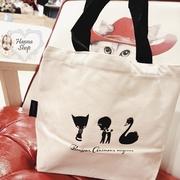 Huahua Club-Outflow. ภาคผนวกตุ๊กตาเต้นรำถุงอาหารกลางวันแบบพกพาสองด้านพื้นผิวขาวดำ【 H6772 】