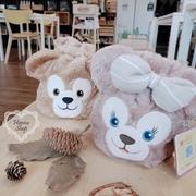 Huahua Club-Spot สั่งซื้อทุกวัน Disney Duffy Shirley Rose super cute beam bag กระเป๋าเดินทางทรงกระบอกเก็บเครื่องสำอางสอง [H6801]