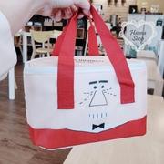 Huahua Club-Outflow. จำกัด Mr. Red Bow Tie ฉนวนกันความร้อนการ์ตูนน่ารักแพ็คเย็นที่จำเป็นสำหรับการเดินทางอาหารกลางวันปิคนิค【 H6805 】
