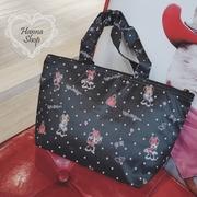 Huahua Club- เบ็ดเตล็ด. กระเป๋าฉนวนดิสนีย์มินนี่ภาคผนวกพื้นหลังสีดำช้อปปิ้งมินนี่【 H6796 】
