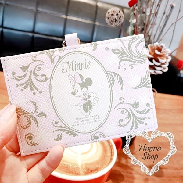 Huahua Club-Outflow. Disney Limited กระเป๋า Minika สีชมพูหนังแกะสลักลายฝรั่งเศสสีชมพูเนื้อป้องกันรอยขีดข่วน【 H6811 】