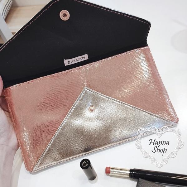 Huahua Club -  ฝรั่งเศส. กระเป๋าใส่มือถือแบรนด์ L ในยุโรปและอเมริกากระเป๋าใส่มือถือหัวเข็มขัดสีทองที่สวยงามกระเป๋าใส่อาหารค่ำ [H6799]