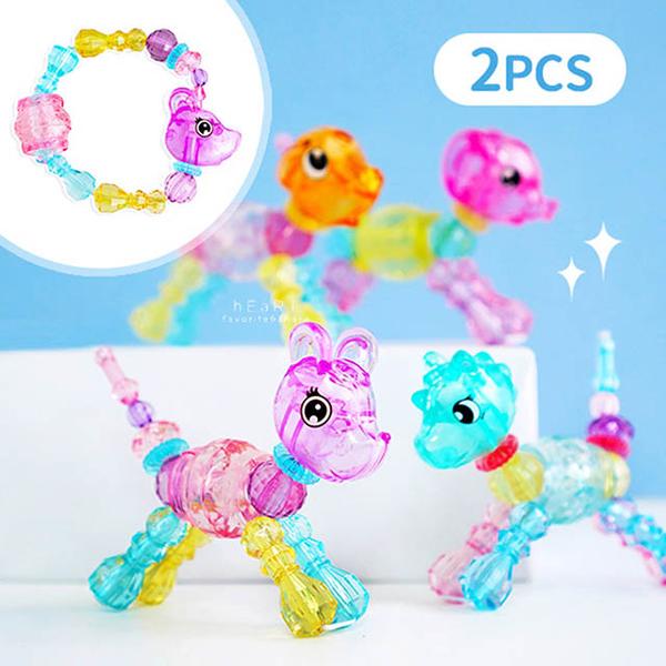 [KTOY] DIY transparent crystal animal bead 2 into the group, no choice