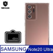 (T.G) ชุดป้องกันโทรศัพท์มือถือพรีเมี่ยม 2 ชิ้น (เคสใสกันกระแทก + สติ๊กเกอร์ติดเลนส์) สำหรับ Samsung Galaxy Note 20 Ultra 5G