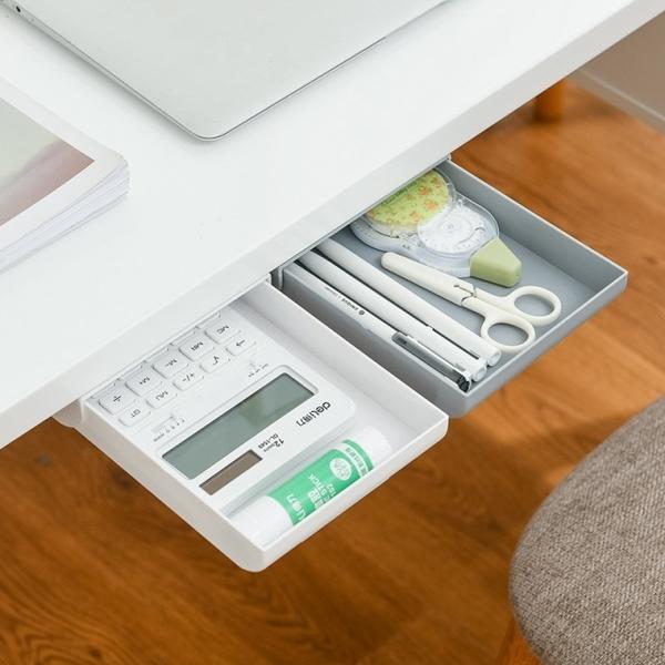 """Self-adhesive drawer """"enlarged"""" desktop storage artifact"""