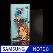 [YoungDi] กระจกกันรอยแบบแกร่งขอบ 9H ผิวโค้ง 3 มิติ (Sanwang Glass) SAMSUNG-NOTE 8