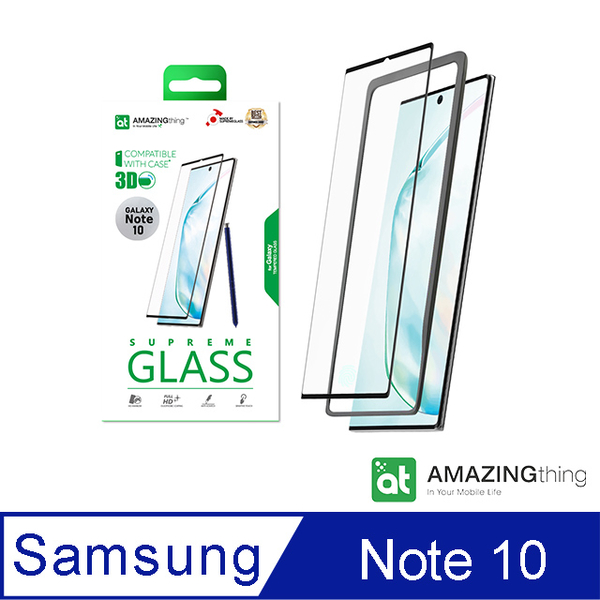 AMAZINGthing 三星 Galaxy Note 10 滿版強化玻璃保護貼