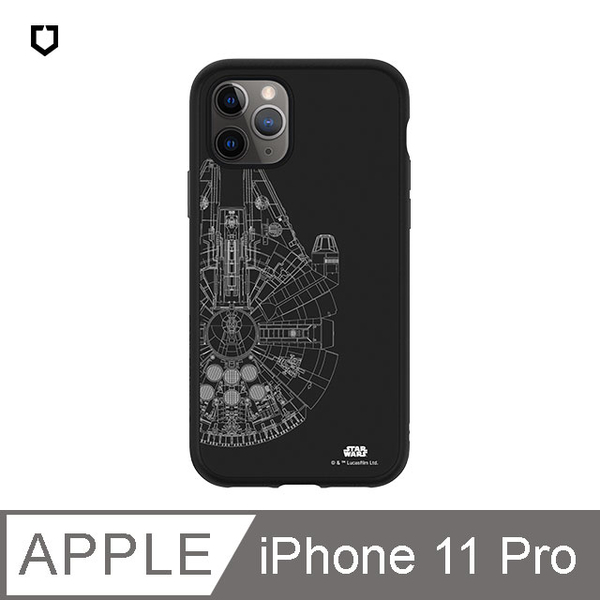 (RHINOSHIELD)Rhino Shield SolidSuit Shatter-resistant Back Cover Phone Case-StarWars-iPhone 11 Pro-Millennium Eagle-Line White