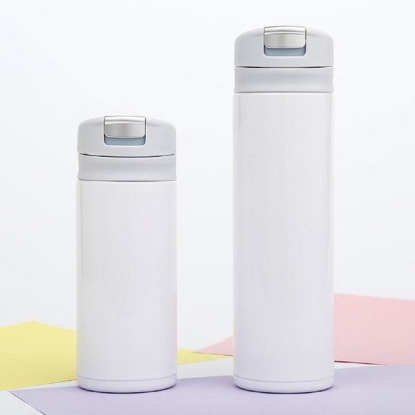 Ultra-lightweight stainless steel thermos thermos (white 300ml)