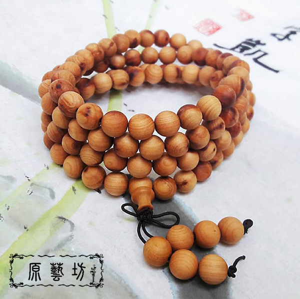 (原藝坊)[Original Art Workshop] Natural Cliff Cypress 108 Rosary Beads Bracelet (8mm)