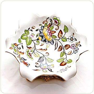 European style flower shape ceramic ice cracked vine base fruit plate/plate decoration/plate stand/wobble plate-26CM [Athena Furnishings] ED28