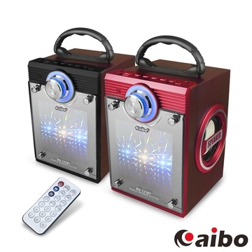 (aibo)Aibo L125 remote control multi-function portable wood wireless Bluetooth speaker (AUX / flash drive / TF card / FM)