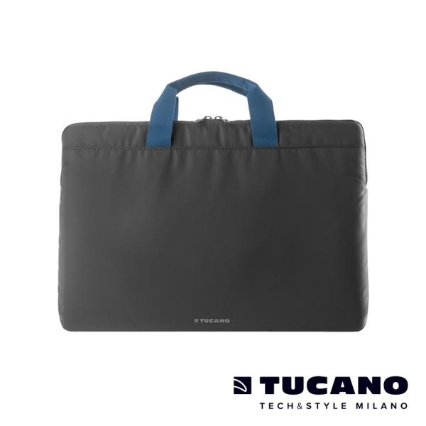 (tucano)TUCANO MINILUX Minimalist Lightweight Nylon Handle Bag 13-14 inch (back side) - Dark Grey