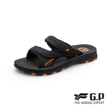 (g.p)[GP Men's Soft and Durable Double Strap Slippers] G0560-42 Orange (SIZE: 37-44 total three colors)