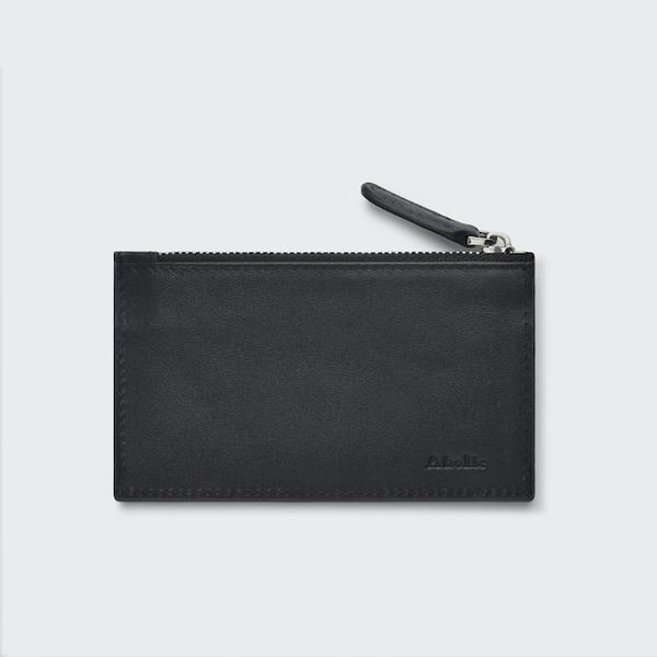 (Aholic)Aholic Leather Change Card Holder-Black