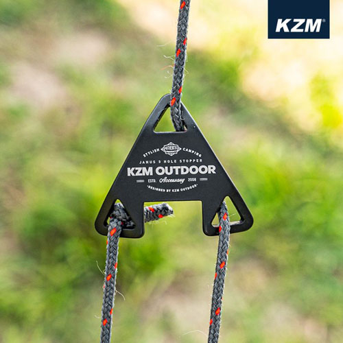 (KZM)KZM Triangular Three-hole Adjusting Sheet 8pcs (Black)