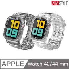 AHAStyle Apple Watch Glacier Crystal Clear สายรัดกีฬาแบบโปร่งใสป้องกันการตกกระแทก (42/44 มม.) สีเทาใส