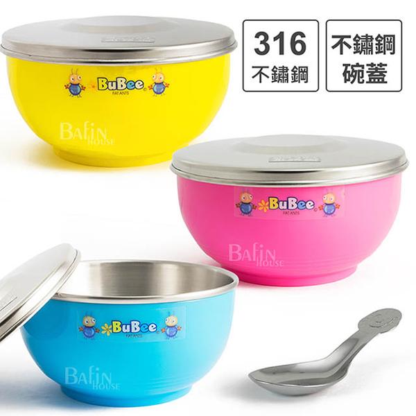 (永昌寶石)[Yongchang Gems] Doudou 316 stainless steel insulated bowl 11.5cm*3pcs (with stainless steel cover and spoon)