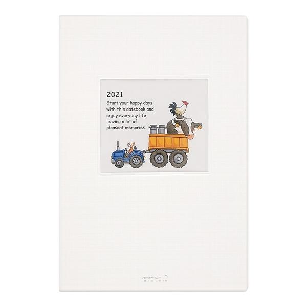 (midori)MIDORI POCKET DIARY 2021 Pocket (Monthly Weekly) B6-Boarding Tool