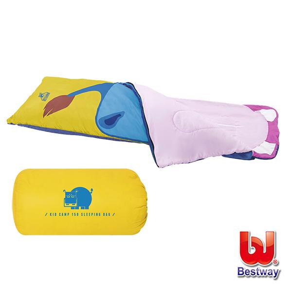 (Bestway)Love and Rich L&R Bestway. Children Cartoon Hippo Sleeping Bag 68050