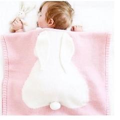 (VVN) ผ้าห่มสำหรับเด็กทารก ลายกระต่ายน้อย