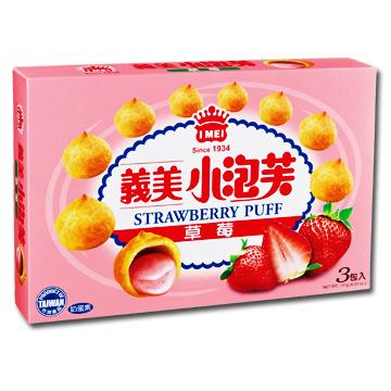 Yimei Puff พัฟสตรอเบอร์รี่ (3 ชิ้น / กล่อง)