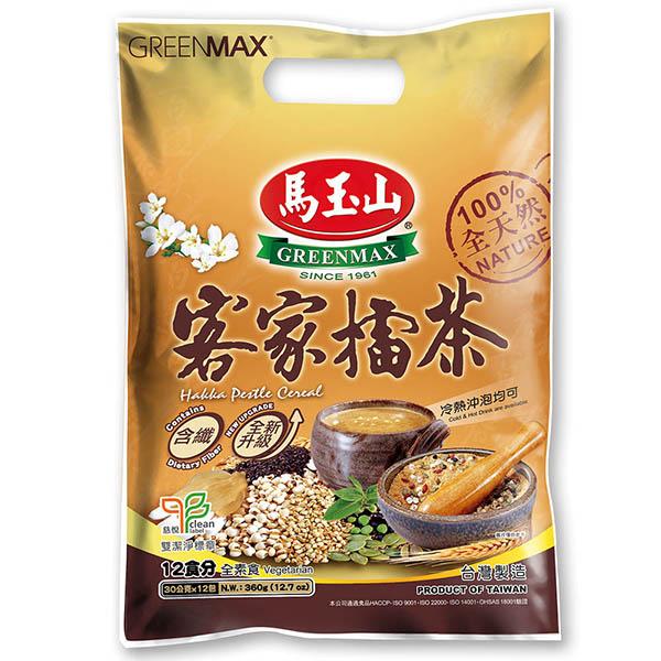(GREENMAX)GREENMAX Hakka Lei Tea (groung tea)-Gift Set (12 pieces) - new upgrade