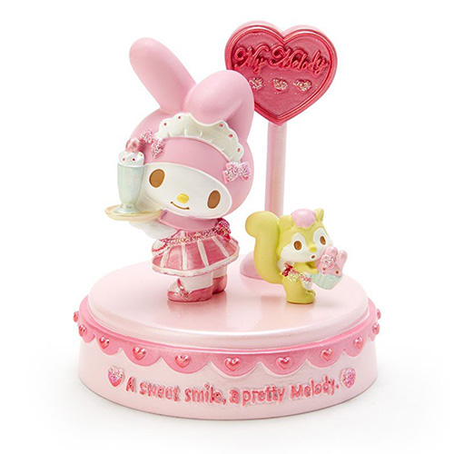 Sanrio tabletop ceramic shape decoration Melody character dress up series coffee shop clerk