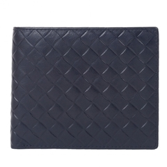 [CUMAR]ROBERTA DI CAMERINO กระเป๋าเงินลายสานนูน สีน้ำเงิน