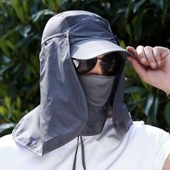 หมวกผ้ากันแดด หน้ากากบังแดดร้อน ระบายอากาศดี ปิดหน้าถีงคอรอบ 360 sunproof cover Cap