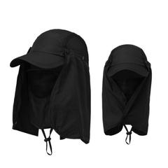 หมวกผ้ากันแดด หน้ากากบังแดดร้อน ระบายอากาศดี ปิดหน้าถีงคอรอบ 360 สามารถถอดที่ปิดหน้าและปีกได้ UPF50+ sunproof cover Cap