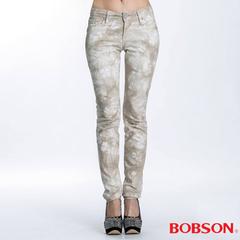 BOBSON กางเกงมัดย้อมผู้หญิงทรงตรงเล็ก (8036-72)