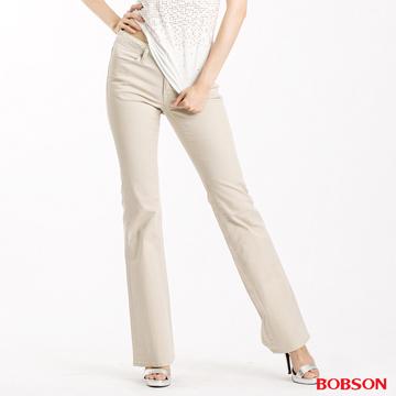 (BOBSON)[BOBSON] female models crude warp Lycra small bell-bottoms (khaki 943-72)