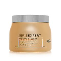 LOREAL Serie Expert Gold Quinoa + Protein ABSOLUT REPAIR 500มล มาส์กสำหรับผมทำสี