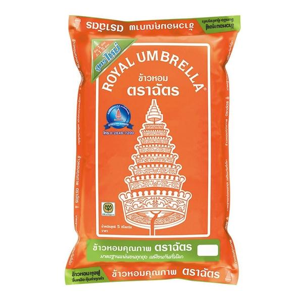 ตราฉัตร ข้าวหอมผสม70% 5 กิโลกรัม Chat brand fragrant rice mixed 70% 5 kg