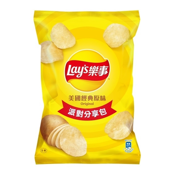 (Lay's)Lay's Potato Chips Party Sharing Pack-Classic Original (140g/bag)