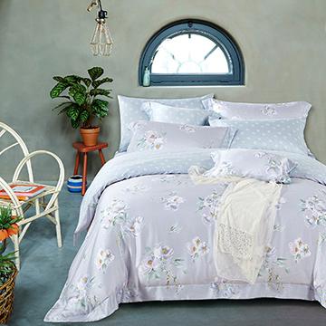 [One-petal heart] 100% pure Tencel double-purpose quilt cover bed pack four-piece set