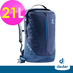[German deuter] X-Venture XV3 Multifunctional City Travel Backpack 21L (3850418 Grey Blue / Blue / Student School Bag / Business / Travel)